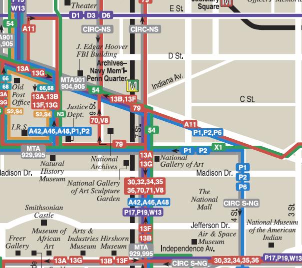 Metro Bus Service Maps