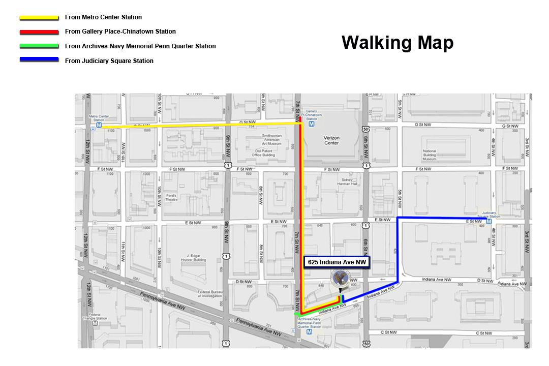 Metro Walking Map